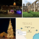 a map of taxes with photos from texas land marks